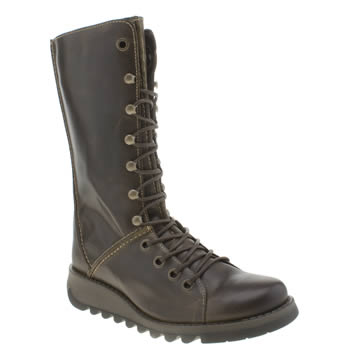 Womens Fly London Brown Seik Boots