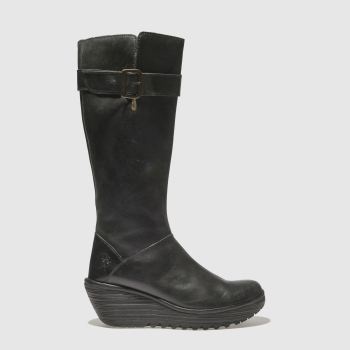 Fly London Black Yely Womens Boots