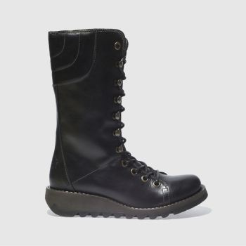 Fly London Black Ster Womens Boots