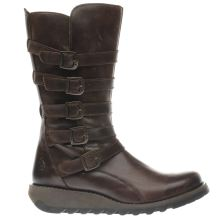Fly London Dark Brown Seca Womens Boots