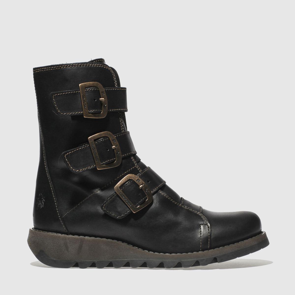 Fly London Black Scop Boots