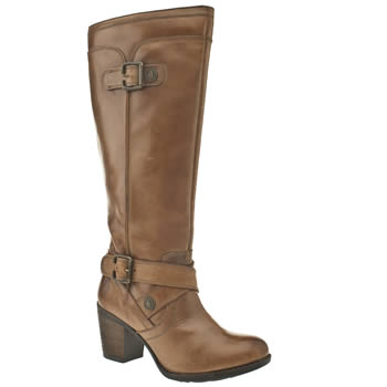 Womens Hush Puppies Tan Marshfield Moorland Boots