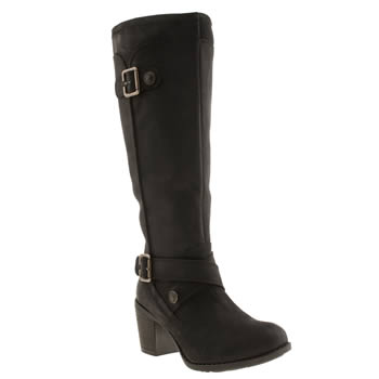 Womens Hush Puppies Black Marshfield Moorland Boots