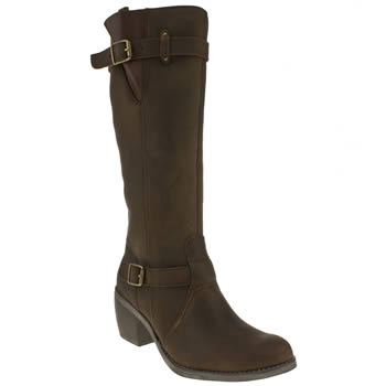 womens hush puppies dark brown rustique tall boots