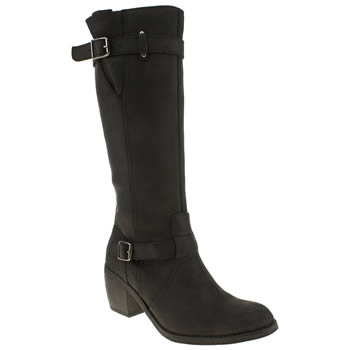 womens hush puppies black rustique tall boots