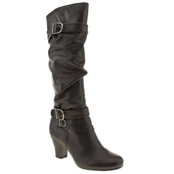 womens hush puppies black lonna tall boots