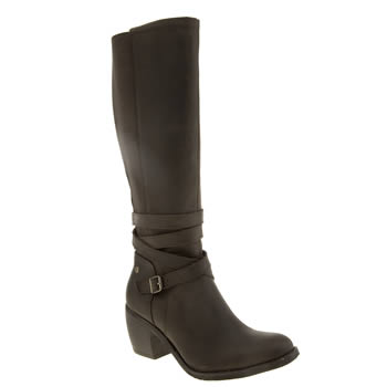 Hush Puppies Dark Brown Malory Rustique Boots