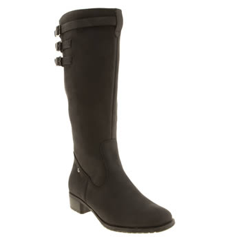 Womens Hush Puppies Black Leslie Chamber Boots