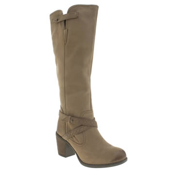 Hush Puppies Tan Gussie Moorland Boots