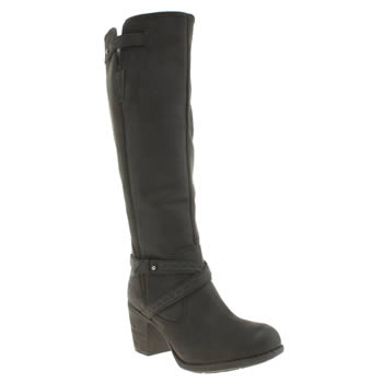 Hush Puppies Black Gussie Moorland Boots