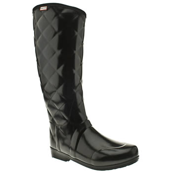 Womens Hunter Black Regent Savoy Boots