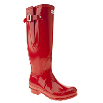 womens hunter red original adjust gloss boots