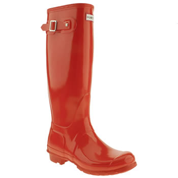 womens hunter orange original tall gloss iii boots
