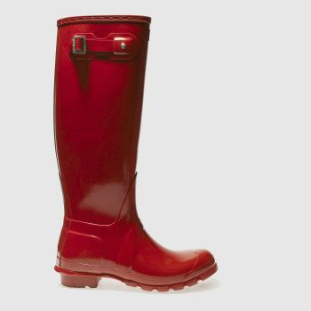 Womens Hunter Red Original Tall Gloss Boots