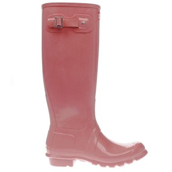 Hunter Pink Original Tall Gloss Womens Boots