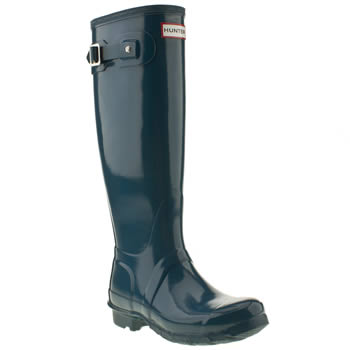 womens hunter blue original tall gloss iii boots