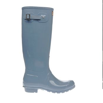 Hunter Pale Blue Original Tall Gloss Boots