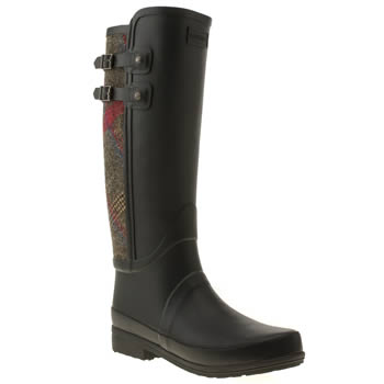 womens hunter black sandhurst chaucer boots