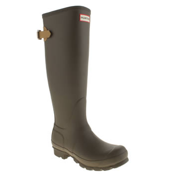 Womens Hunter Khaki Original Back Adjust Boots