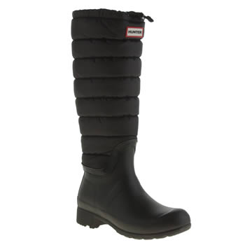 Womens Hunter Black Original Quilted Leg Boots