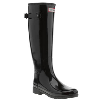 Womens Hunter Black Original Refined Gloss Boots