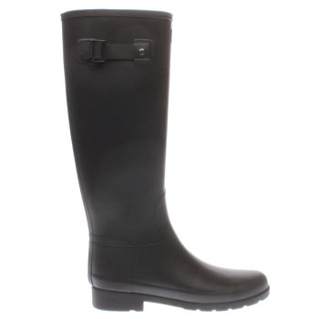 Hunter Black Original Refined Womens Boots