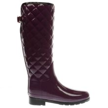Hunter Purple Refined Gloss Quilt Tall Womens Boots