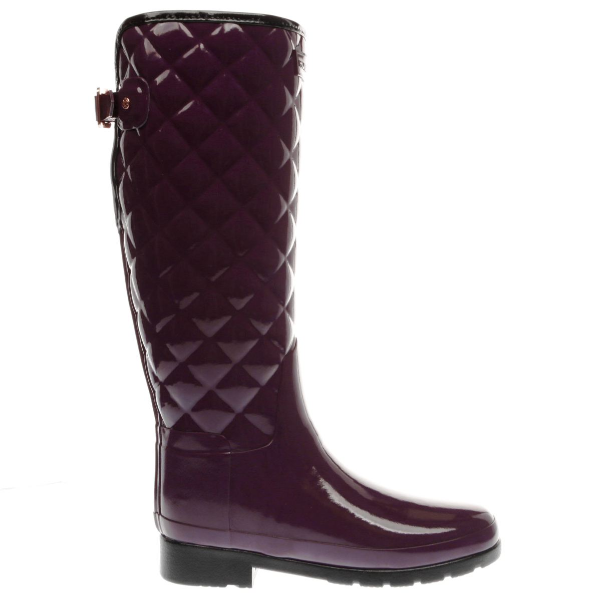 hunter purple refined gloss quilt tall boots