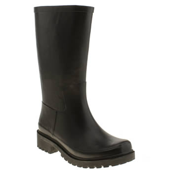 Womens Juju Jellies Black Biker Boots