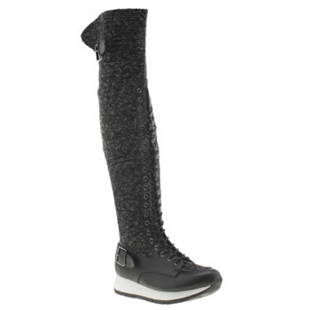 Womens Privileged Black Santee Boots