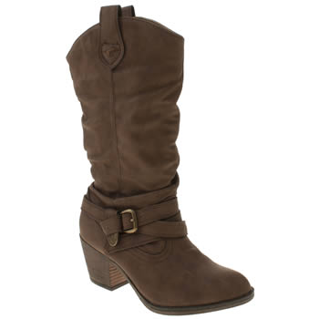 Womens Rocket Dog Brown Sidestep Ii Boots