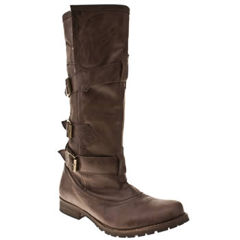 Womens Red Or Dead Dark Brown Louisa Fleece Ii Boots