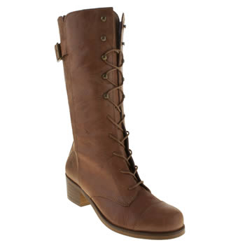 womens red or dead tan major boots