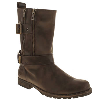 Womens Red Or Dead Brown Behind The Bike Shed Boots