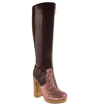 Red Or Dead Burgundy Claudia Womens Boots