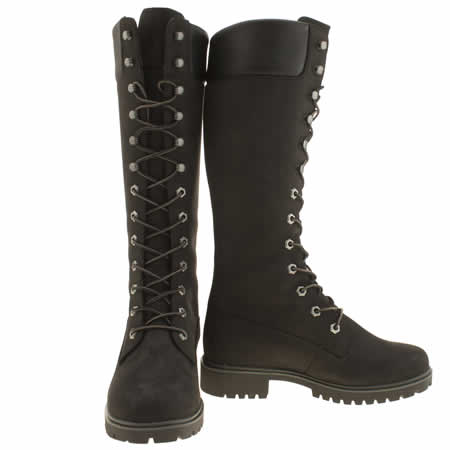 timberland 14 inch boots black