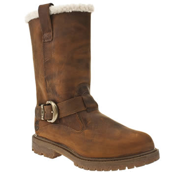 Womens Timberland Brown Nellie Pull-on Winter Boots