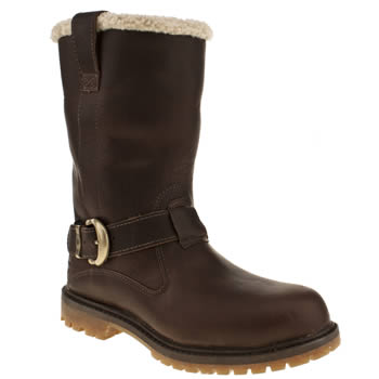 Womens Timberland Dark Brown Nellie Pull On Boots