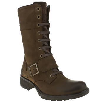 Womens Timberland Dark Brown Charles St Mid Boots