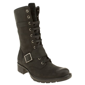 Timberland Black Charles St Mid Boots