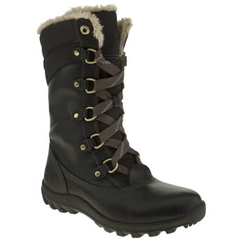 Womens Timberland Black Mount Hope Boots