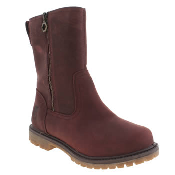 Timberland Burgundy Nellie Pull On Double Boots
