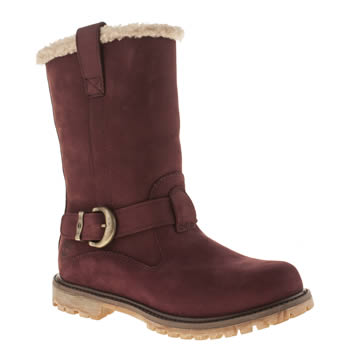 Womens Timberland Burgundy Nellie Pull-on Boots