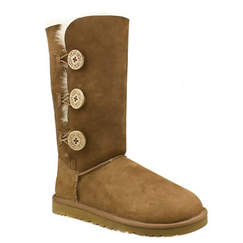Ugg Australia Tan Bailey Button Triplet Boots
