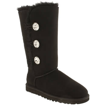 Womens Ugg Australia Black Bailey Bling Triplet Boots