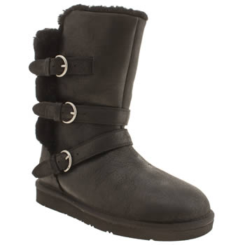 Womens Ugg Australia Black Becket Boots