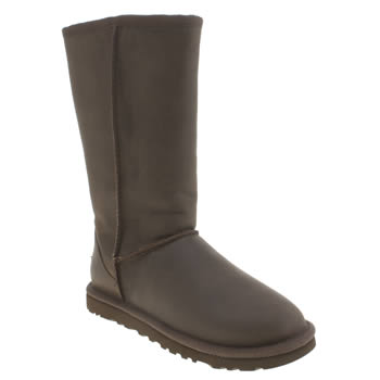 Womens Ugg Australia Brown Classic Tall Leather Braid Boots