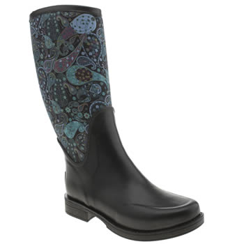 Ugg Australia Black and blue Reignfall Liberty Womens Boots