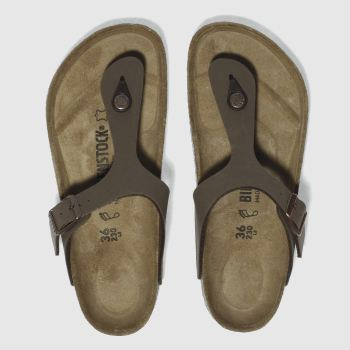Womens Birkenstock Brown Gizeh Sandals