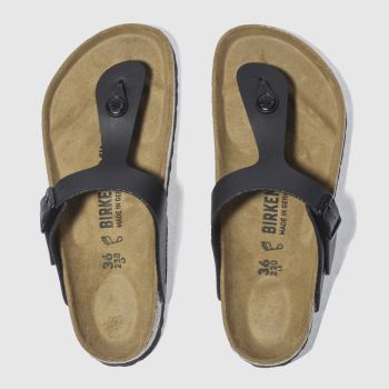 Womens Birkenstock Black Gizeh Sandals